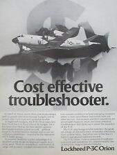 5/1980 PUB LOCKHEED P-3C ORION US NAVY SAR ASW MPA PATROL AIRCRAFT ORIGINAL AD