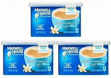 3 Maxwell House FRENCH VANILLA SUGAR FREE Cafe Coffee Creamer Mix LOW CALORIE