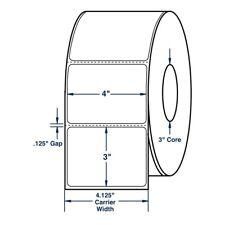 "4"" x 3"" White Direct Print Thermal Labels, 2000 per roll (4 Rolls per Carton)"