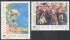 UN (NY) 1988 Health in Sports/Cycling/Marathon Running/Bikes/Bicycle 2v (n41732)