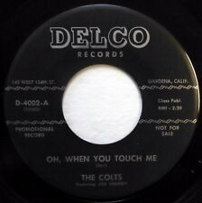 The COLTS 45 Oh, When You Touch Me / I Never Knew DELCO doo wop NM promo ws308