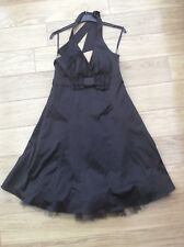 Satin Halter Neck Maternity Party Dress By Red Herring Size 12 BNWT