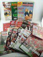 LOT of 17 ALABAMA FOOTBALL Magazines, 2009-2014, Crimson Tide