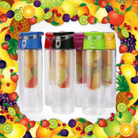 800ML Fruit Infusion Infusing Infuser Water Bottle Sports Health Maker Cup UK
