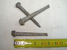20 clous carrés CARVELLE  50 mm en acier galvanisé