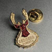 Red Deer Alberta Pin Vintage Brass Hat Pin Lapel Pin