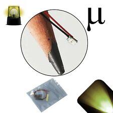 20 x 12v 0807 0805 Warm Soft White Micro Flashing SMD Pre-Wired LED Blinking 9v