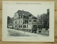Architektur 1902 München Bogenhausen Betzsche Gasthaus Törringstraße  26x34cm
