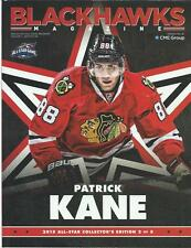 2014-15 Chicago Blackhawks Hockey Program Patrick Kane All-Star cover