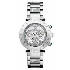 Versace Q5C99D498 S099 Reve Stainless Steel Chronograph Swiss Watch
