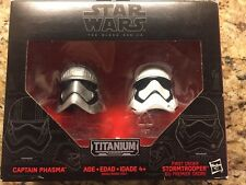 Star Wars Black Titanium Series Helmets - Captain Phasma & FO Stormtrooper