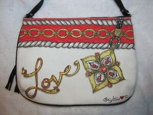 Brighton Glitter and Go Crossbody Pouch Love Gems Jewelry 2 sided graphics