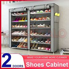 36 Pairs Shoes Cabinet Storage Shoe Rack with Cover Portable Wardrobe