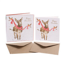 """Wrendale Designs Christmas Card Box Set of 8 Cards """"All Wrapped Up"""""""