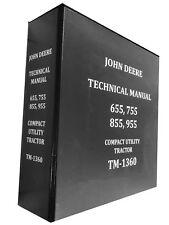 755 John Deere Technical Service Shop Repair Manual Book