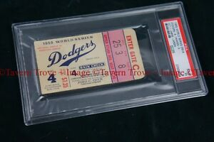 PSA Graded VG 1955 World Series ticket stub GAME 4 Yankees vs Brooklyn Dodgers