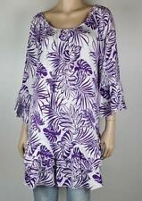Rayon 3/4 Sleeve Tunic Floral Tops for Women