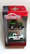 MAJORETTE 212057410 - FARM - DEUTZ-FAHR 9340TTV & VW AMAROK TRAKTOR SERVICE -NEU