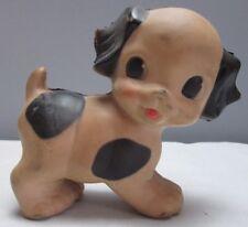 Vintage 1950 Era Squeaker Toy Sun Rubber Dog Puppy Spot 3 inches