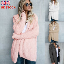 Women Long Sleeve Oversized Jumpers Cardigans Ladies Fur Coat Sweater Hoodies