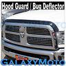 Smoke Black Hood Shield Grille Guard Bug Deflector for 10-18 Dodge RAM 2500+3500