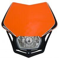 Mascherina Faro Anteriore Moto Racetech V-Face Arancio KTM Rtech Headlight