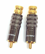 10pairs FURUTECH FP-104 FP-104(G) RCA Male Plug Connector 24K Gold Plated Japan