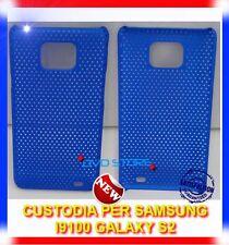 Custodia +  Pellicola MESH BLU per Samsung I9100 galaxy s2 plus I9105