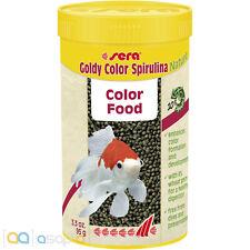 sera Goldy Color Spirulina Nature 250mL Color Enhancing Goldfish Food Granules