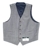Lauren by Ralph Lauren Mens Suit Separate Gray Size Large L Vest Wool $125 #081