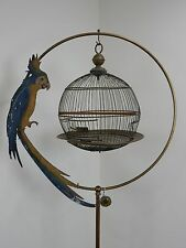 Antique 19th Century Hendryx bird cage and stand.