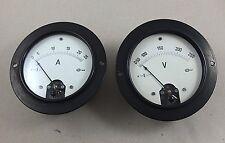 2 Stk. Altes Messgerät Ampermeter Voltmeter GBD Gebr. Bässler Dresden II