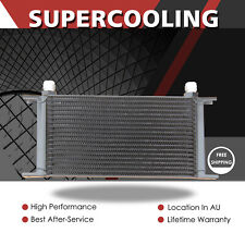 BLACK 19 Row AN10 Universal Engine Transmission Oil Cooler Mocal Style 248MM
