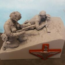 1/16 120mm WW2 BRITISH PARA PARATROOPERS RED DEVILS DIORAMA