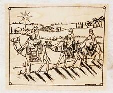 Northwoods Rubber Stamp Wood Mounted Christmas We Three Kings In Square Star