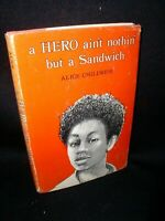 A Hero Aint Nothin' But A Sandwich by Alice Childress; Hbdj, 1973, 1st, ed.