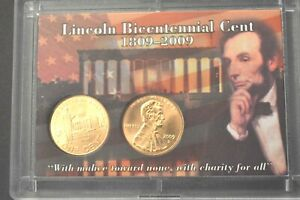 """2009 P & D Lincoln """"Professional Life"""" Cent Satin Finish Penny In Whitman Holder"""
