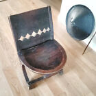 African elegant decorated chair from the Oromo people in Ethiopia Early 1900s
