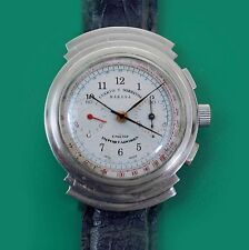 ATTENTION!   Vintage 40's Exotic Case CUERVO Y SOBRINOS Habana Chronograph Watch