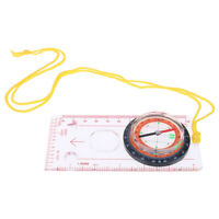 Magnifying Compass Ruler Scale Scout Hiking Camping Boating Orienteering  IY JE