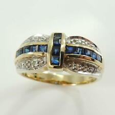 9 Carat Gold Vintage Styled Sapphire & Diamond Ring