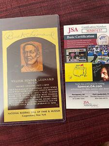 Buck Leonard Hall Of Fame HOF Postcard Autographed Signed