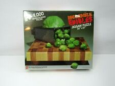 """Vtg 80s Incredible Edibles Avalon Hill Jigsaw 1000 Puzzle 20x27"""" Cabbage Copia"""