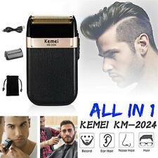 Kemei KM-2024 Electric Shaver USB Reciprocating Blade Razor Hair Clipper Trimmer
