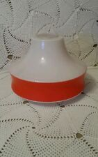 Globe opaline lustre ancien art deco haut : 14,7 cm largeur : 19 cm blanc orange