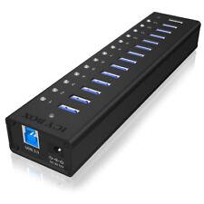 Raidsonic Icybox IB-AC6113 Aktiver 13 Port USB 3.0 Hub im soliden