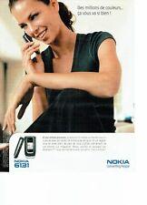 Publicité Advertising 077  2006  Nokia  6131  téléphone mobile