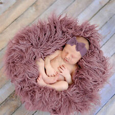 3PCS Newborn Photography Props Stretch Baby Photo Soft Rug Blanket Wraps Cover