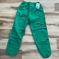 Vintage 90s Discus Athletic Green Tapered Jogger Sweatpants Large 50/50 USA
