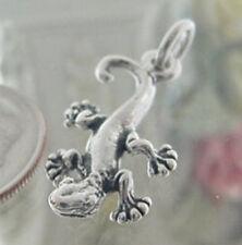 925 Sterling Silver Gecko Lizard Charm